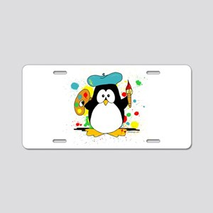 Artistic Penguin Aluminum License Plate